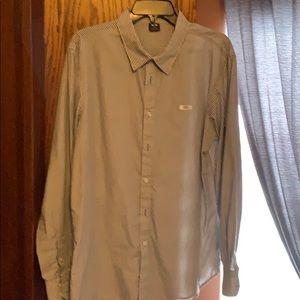 Oakley Mens Casual Long Sleeve Shirt